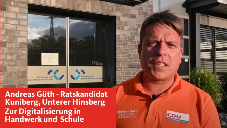 Andreas Güth - Ratskandidat Bezirk 26 (Kuniberg, Unterer Hinsbwerg) im Interview zu Handwerk und Schule
