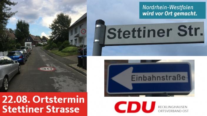 Einladung Ortstermin Stettiner Strasse 22.08.2020